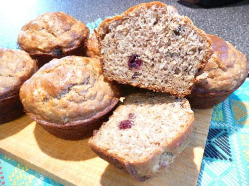 Randy's Cranberry Buttermilk Oat Muffins