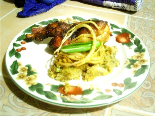 Grilled Cornish Game Hens & Eggplant Stuffing