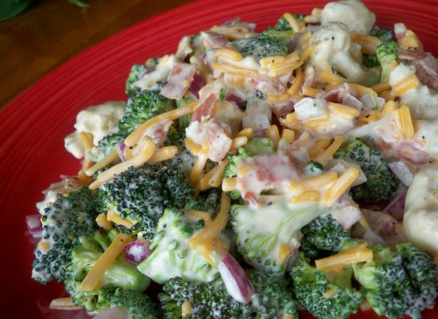 Broccoli and Cauliflower Salad My Way