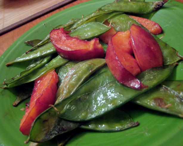 Nectarine, Snow Pea Stir-Fry