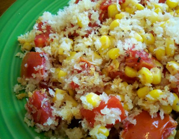 Baked Corn and Tomatoes