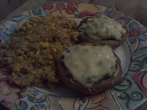 Baked Mushrooms With Spicy Rice and Corn