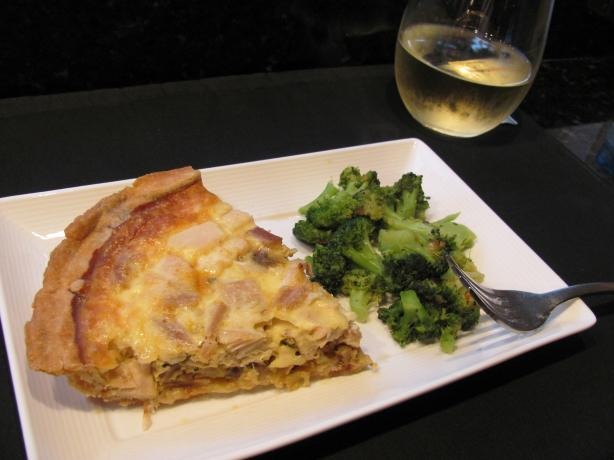 Caramelized Onion, Smoked Turkey, Mushroom and Gruyere Quiche Wi