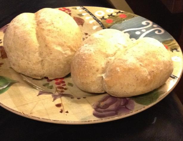 Sourdough Rye and Onion Rolls (Pistolet Style)
