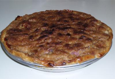 Sour Cream Peach Pie