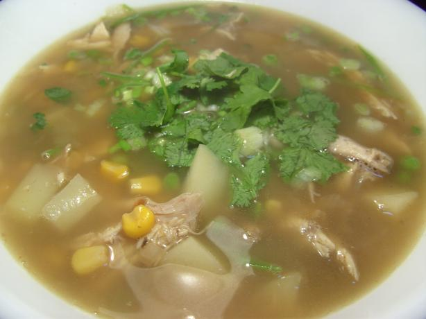 Corn, Potato and Chicken Soup