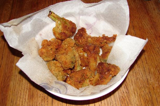 Fried Broccoli or Zucchini or Other Vegetables
