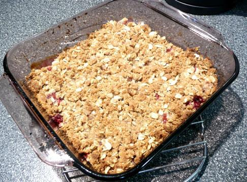 Pear-Cranberry Crumble-Crisp