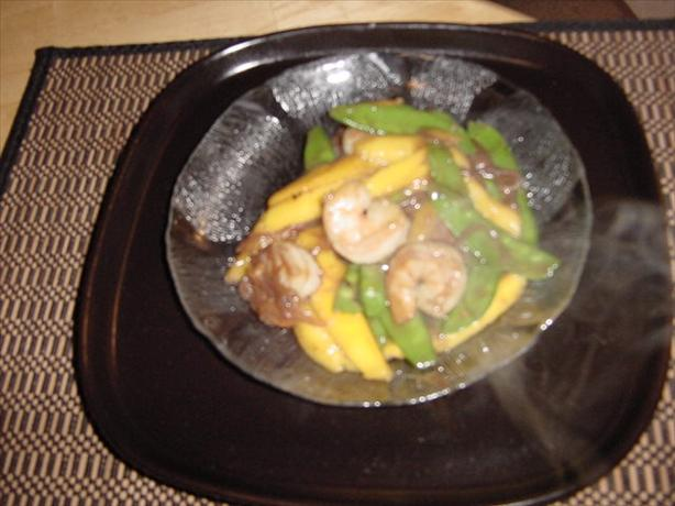 Prawn Snow Pea and Mango Stir Fry