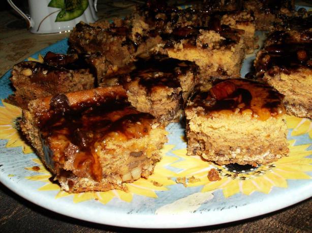 Pumpkin Streusel Cheesecake Bars (Cookie Mix)