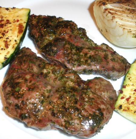 Simply Herbed up Lamb Steaks