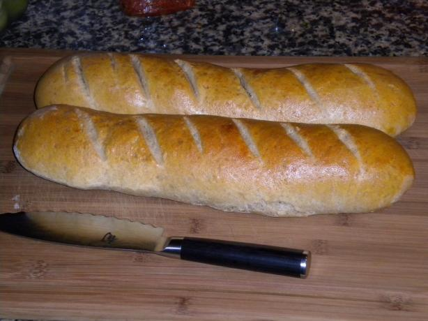 Bread Machine Italian Bread (Baked in Oven)