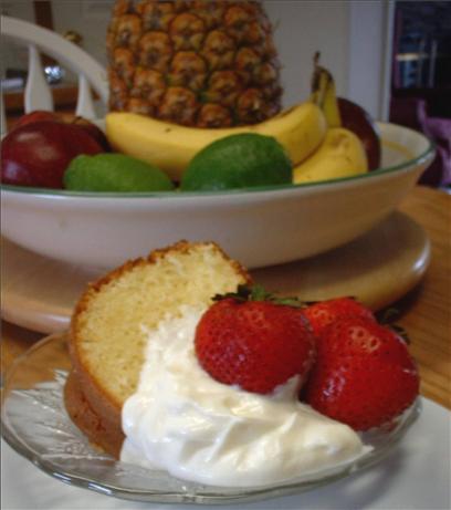 Lemon Almond Sour Cream Pound Cake