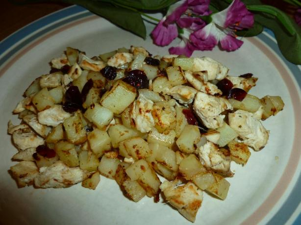 Chicken, Cherries and Potato Hash #5FIX