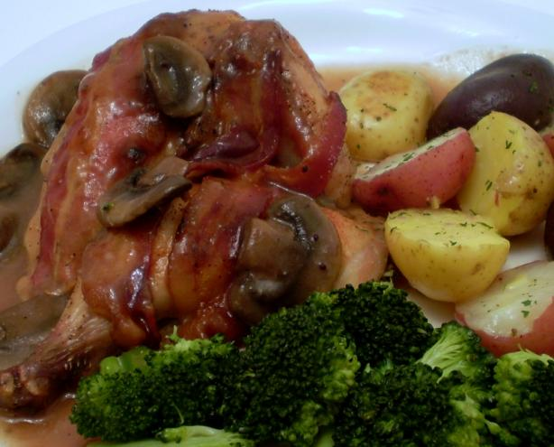 Cornish Game Hens With Bacon and Cranberry Sauce