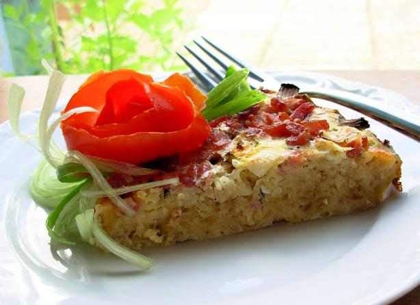 Ranch Egg Pie (Quiche-Style)