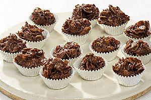 Chocolate Caramel Crispy Cakes