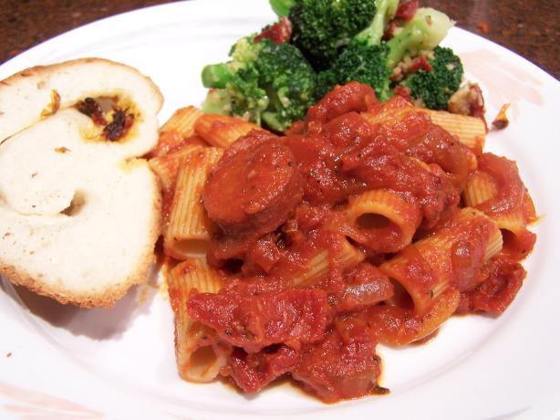 Spicy Chorizo Penne Pasta