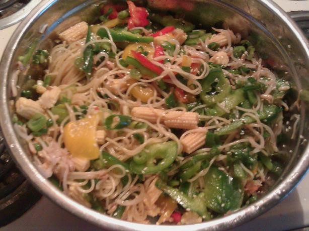 Asian Sweet and Spicy Noodles (Vegetarian)