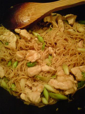 Midweek Chicken, Spring Onion and Noodle Stir Fry