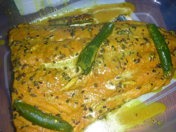 Salmon in Bengali Mustard Sauce