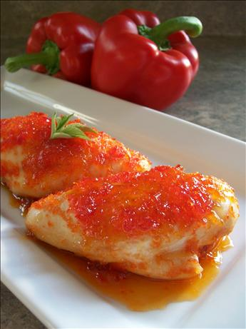 Pepper Jelly Glazed Chicken