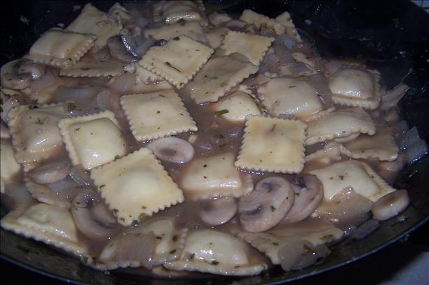 Ravioli in Mushroom Broth