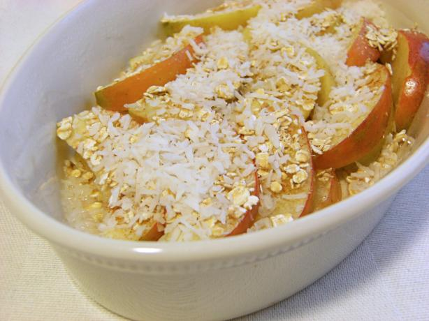 Fat-Free Microwave Apple Crumble Delight