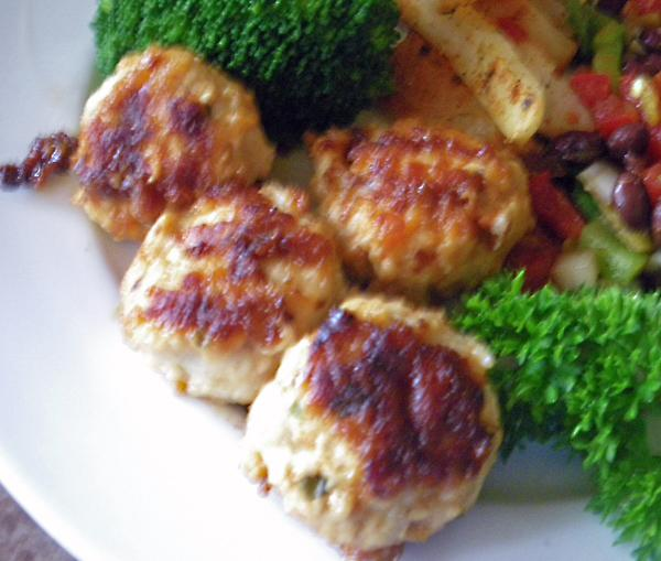 Cheesy Parmesan Chicken or Turkey Meatballs