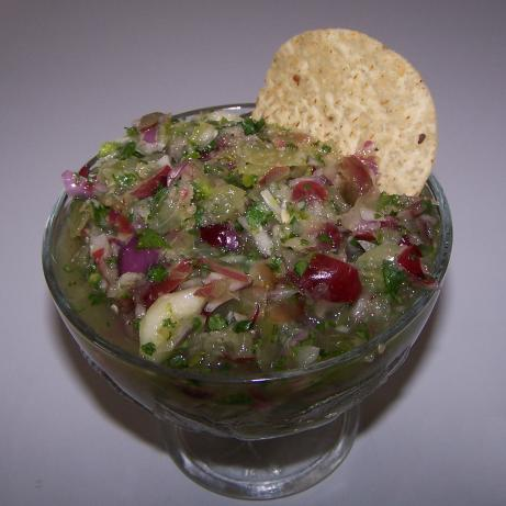 Grape and Cucumber Salsa