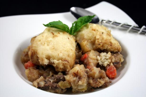 Tink's Cider Beef Stew With Fluffy Dumplings