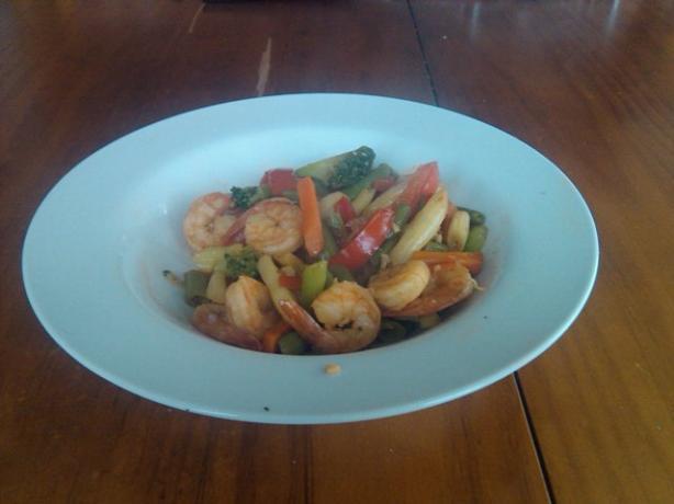 Sweet Chilli & Garlic Shrimp/Prawn Stir Fry