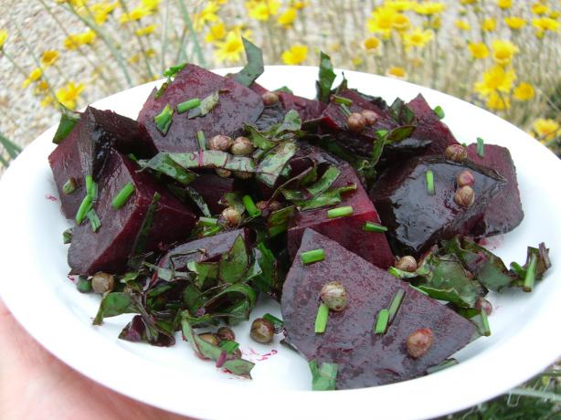 Roasted Beets With Capers