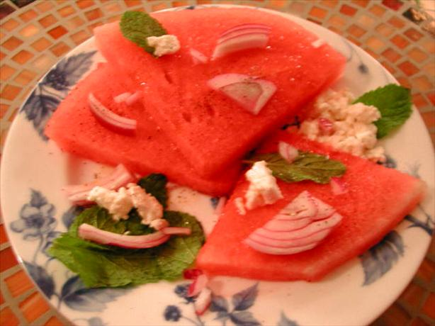 Watermelon & Feta Salad With Ouzo Dressing