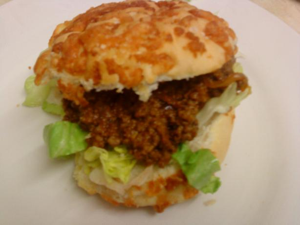 Sloppy Dogs - Ground Beef Sloppy Joes With Cheese in Hot Dog Bun
