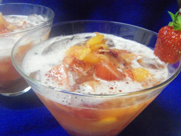 Adult Strawberry Pineapple Punch Cocktail