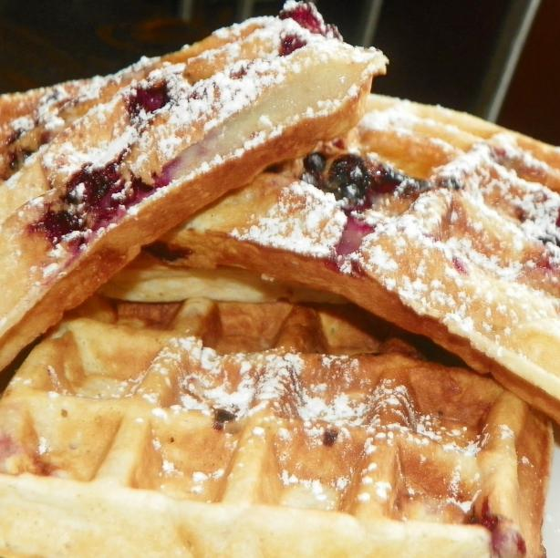 Sour Cream Blackberry Waffles