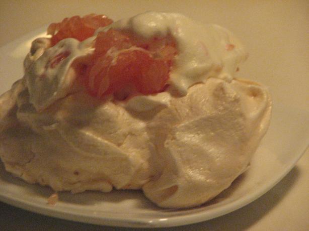 Grapefruit Meringue Shells