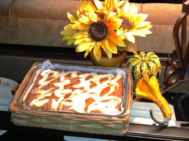 Low-Fat Pumpkin Swirl Bars (Or Cake)