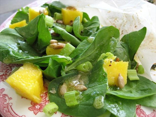 Spinach and Mango Substitute Salad