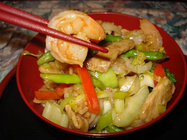 Pork and Prawn/Shrimp Stir Fry