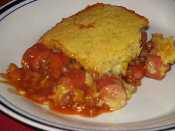 Baked Bean Corn Dog Casserole