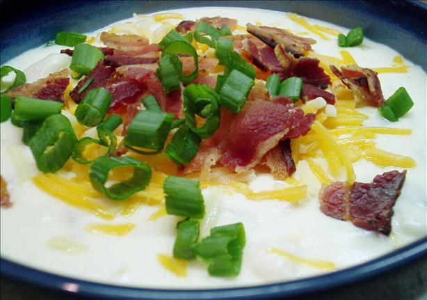 Delicious Cheesy Baked Potato & Bacon Soup