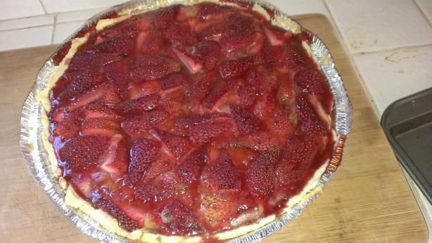 Strawberry Rhubarb Custard Pie - Rich Version
