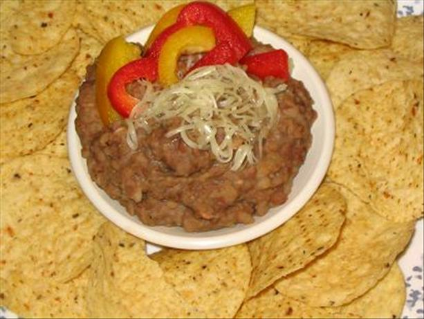 """Beans that Aren't Quite Refries, """"Winging It"""" Style"""