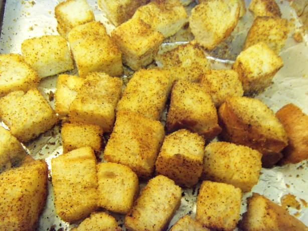 Quick Chili Croutons