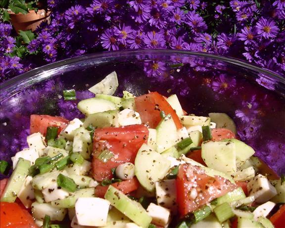 Tomato, Cucumber & Mozzarella Salad