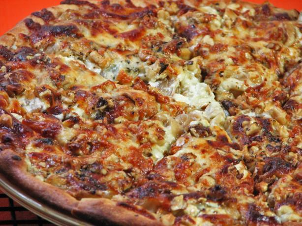 Onion Confit, Walnut and Gorgonzola Pizza