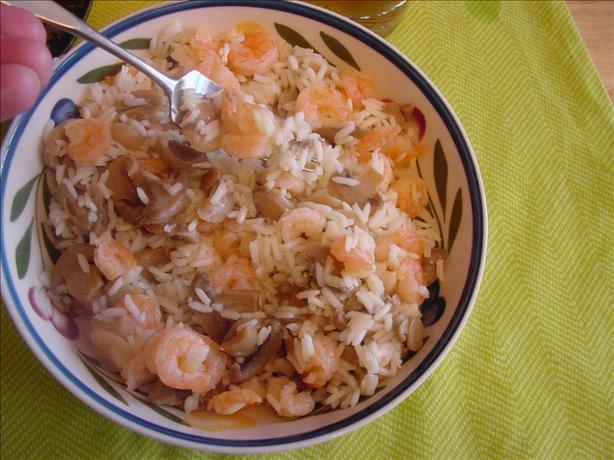 Jim's Solo Shrimp and Mushroom Pilaf