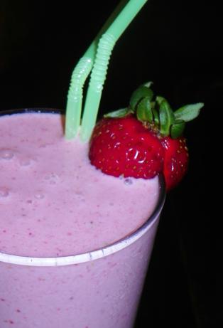 Black Raspberry Strawberry Smoothie